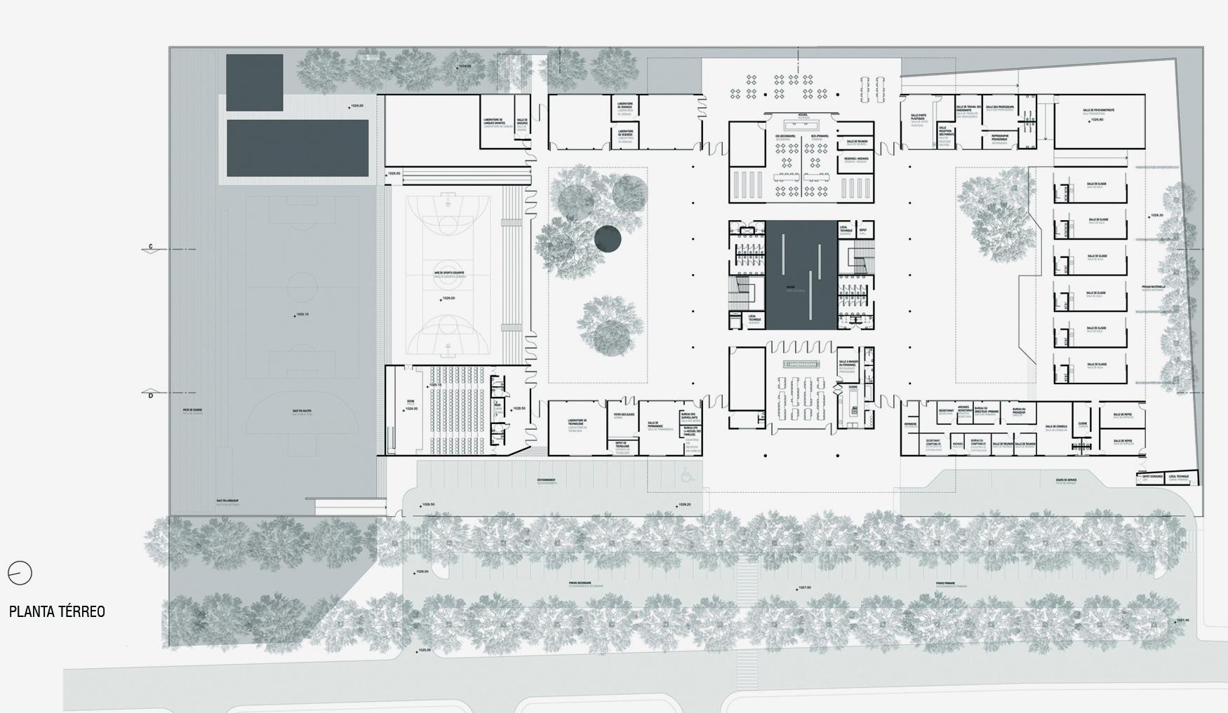#756456 Concurso – Liceu Francês de Brasília – UNA Arquitetos   Segond  1750x1017 px Projeto De Cozinha Industrial Hotel_4665 Imagens