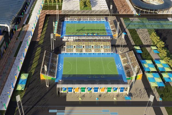 Centro Olímpico de Hockey - BCMF Arquitetos - Fonte: rio2016.org.br