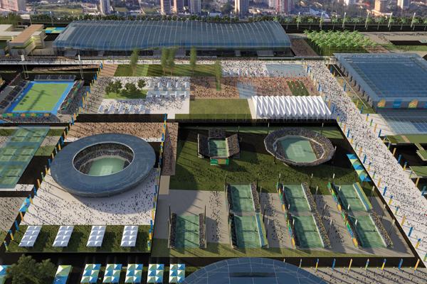 Centro Olímpico de Tênis - BCMF Arquitetos - Fonte: rio2016.org.br