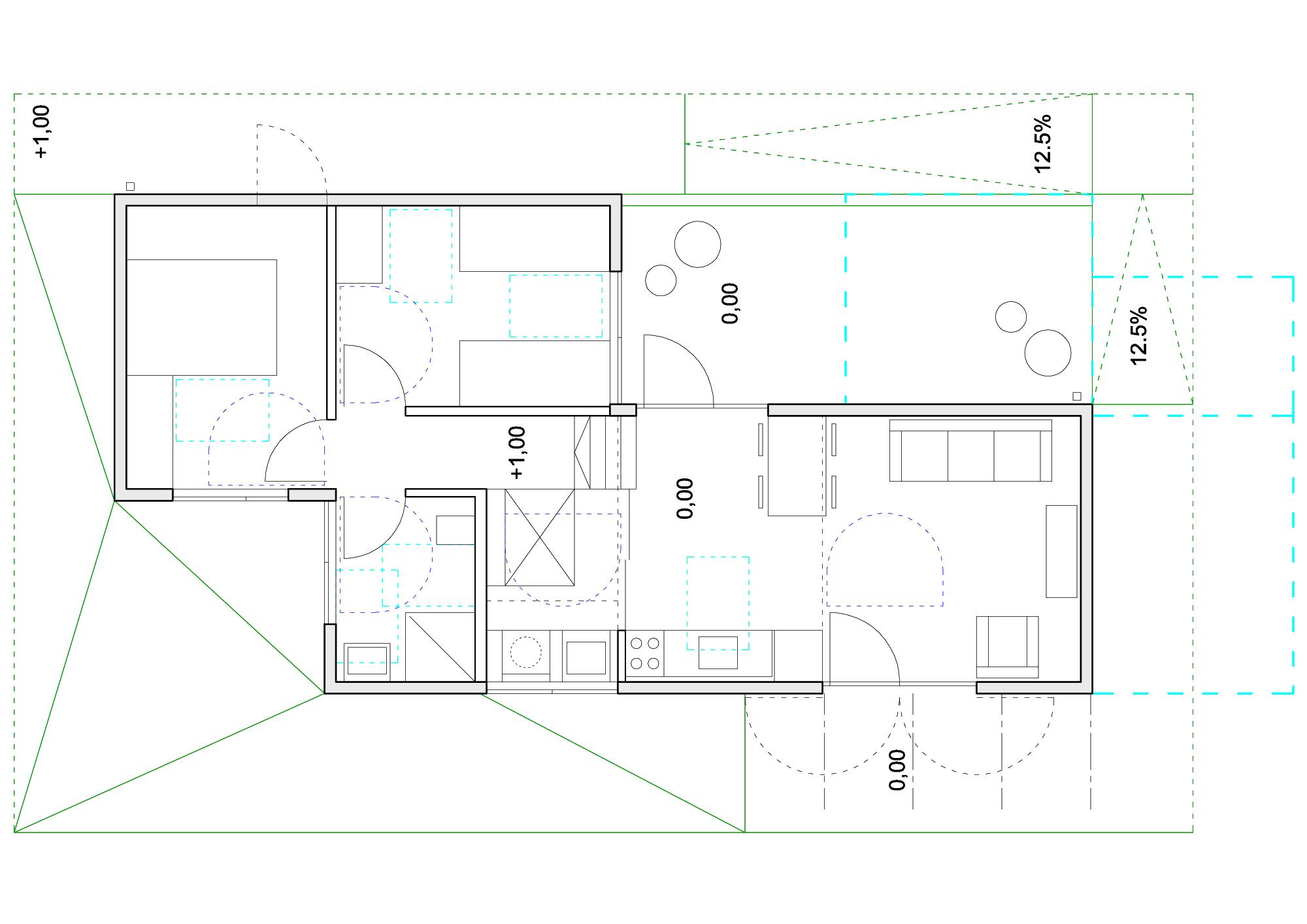 Concurso Habitação para Todos – Casas Escalonadas – 2° lugar  #00CCCA 2000 1414