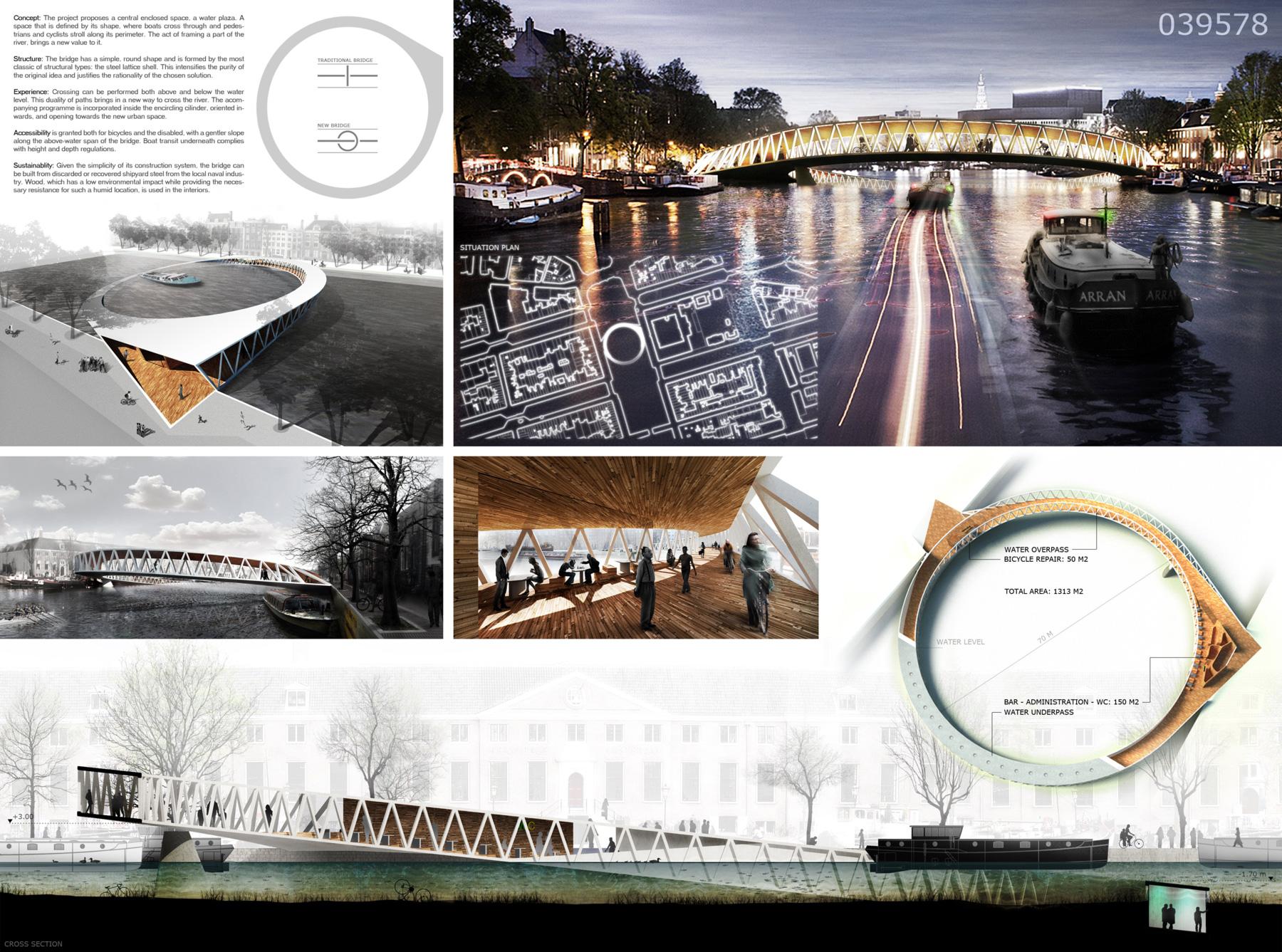 Premiados concurso de ideias ponte de pedestres for Design bridge amsterdam
