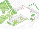 Gymnasium and redesign of the Town Hall square - Imagem 31 - Axonométrico