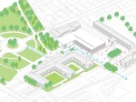 Gymnasium and redesign of the Town Hall square - Imagem 32 - Axonométrico