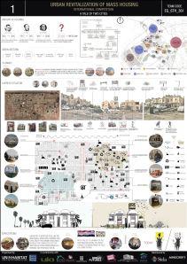 Concurso Mass Housing - Regional - Estados Árabes - Terceiro Lugar - Prancha 1