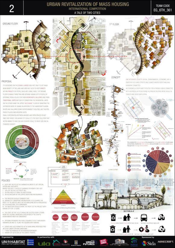 Concurso Mass Housing - Regional - Estados Árabes - Terceiro Lugar - Prancha 2