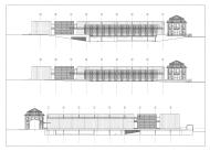 Mercado Municipal Ponte de Lima - Guedes Cruz Arquitectos - Des. Mercado Alc. e Cortes Longitudinal