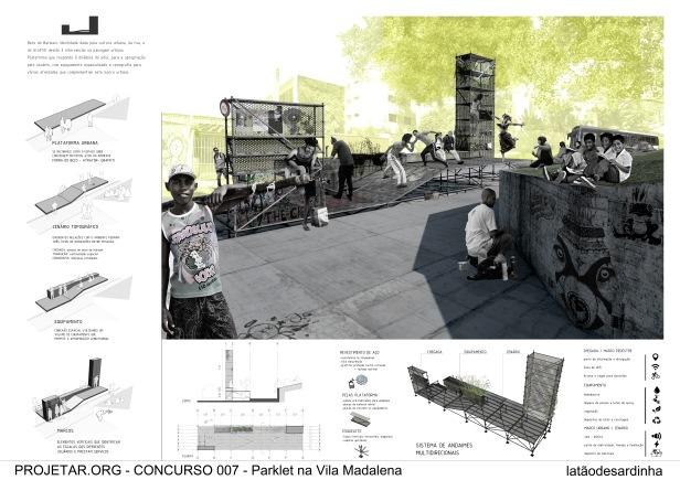 Concurso #007 - Parklet da Vila Madalena - Terceiro Lugar