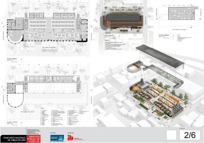 Concurso de Arquitetura - Mercado Público de Lages - 2º Lugar - Prancha 02