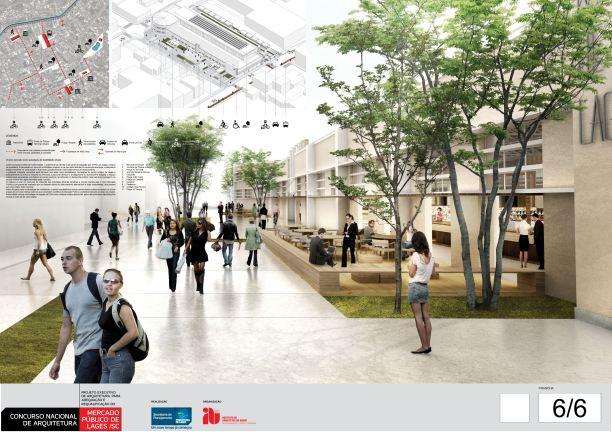 Concurso de Arquitetura - Mercado Público de Lages - 2º Lugar - Prancha 06