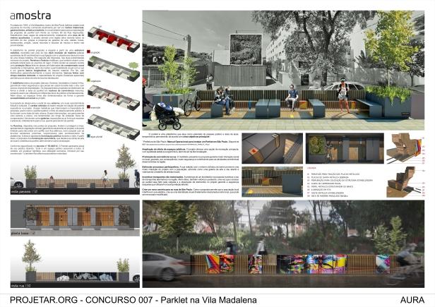 Concurso#007 - Parklet da Vila Madalena - Menção Honrosa  