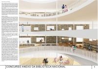 Concurso Anexo da Biblioteca Nacional - Menção Honrosa - Prancha 1