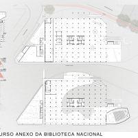 Concurso Anexo da Biblioteca Nacional - Primeiro Lugar - Prancha 2