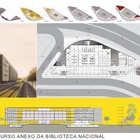 Concurso Anexo da Biblioteca Nacional - Segundo Lugar - Prancha 2