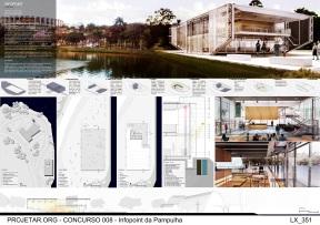 Concurso de Ideias – Infopoint da Pampulha - Menção Honrosa - Prancha 1