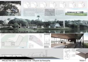 Concurso de Ideias – Infopoint da Pampulha - Terceiro Lugar - Prancha 1