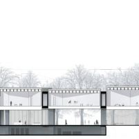 Concurso Bauhaus Museum Dessau - 2º Fase - Terceiro Lugar - Corte