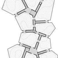 Concurso Bauhaus Museum Dessau - 2º Fase - Terceiro Lugar - Planta 2º Pavimento