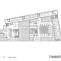 Timmerhuis - OMA - Rotterdam - Planta Baixa 1º Pavimento
