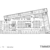 Timmerhuis - OMA - Rotterdam - Planta Baixa 2º Pavimento