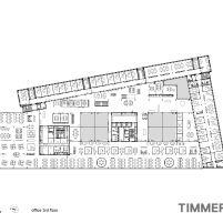 Timmerhuis - OMA - Rotterdam - Planta Baixa 3º Pavimento