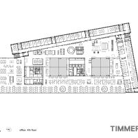 Timmerhuis - OMA - Rotterdam - Planta Baixa 4º Pavimento