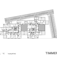 Timmerhuis - OMA - Rotterdam - Planta Baixa 6º Pavimento