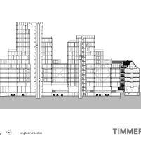 Timmerhuis - OMA - Rotterdam - Corte
