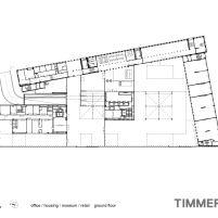 Timmerhuis - OMA - Rotterdam - Planta Baixa Térreo