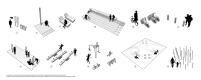 Premiados - Concurso Requalificação Praça Feira-Mar - Primeiro Lugar - Diagramas - Equipamentos