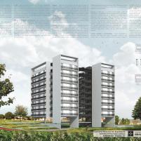 Premiados – Habitação Coletiva – Samambaia – CODHAB-DF - Menção Honrosa -Prancha 1