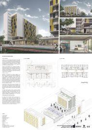 Premiados – Edifícios de Uso Misto - Santa Maria – CODHAB-DF - Menção Honrosa - Prancha Síntese