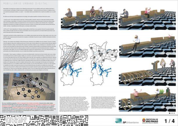 Premiados - Concurso Público Nacional de Ideias para Elementos de Mobiliário Urbano - Menção Honrosa - Prancha 01
