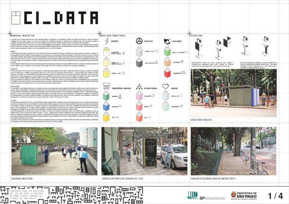 Premiados - Concurso Público Nacional de Ideias para Elementos de Mobiliário Urbano - Segundo Lugar - Prancha 01