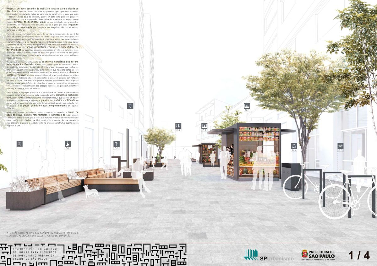 Premiados concurso p blico nacional de ideias para for Mobiliario urbano tipos