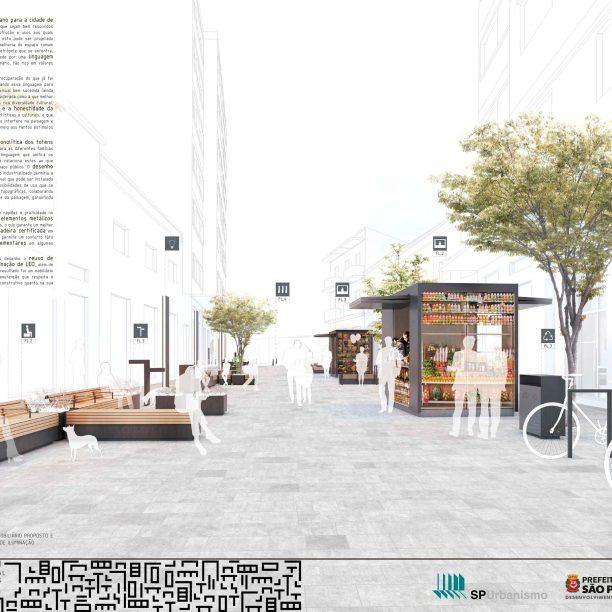 Premiados - Concurso Público Nacional de Ideias para Elementos de Mobiliário Urbano - Primeiro Lugar - Prancha 01