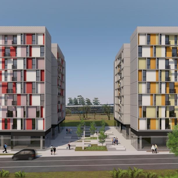 Premiados – Edifícios de Uso Misto - Santa Maria – CODHAB-DF - Terceiro Lugar - Imagem 01