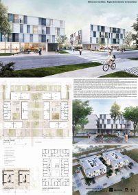 Premiados – Edifícios de Uso Misto - Santa Maria – CODHAB-DF - Segundo Lugar - Prancha Síntese
