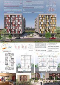 Premiados – Edifícios de Uso Misto - Santa Maria – CODHAB-DF - Terceiro Lugar - Prancha Síntese