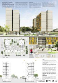Premiados – Edifícios de Uso Misto - Santa Maria – CODHAB-DF - Primeiro Lugar - Prancha Síntese