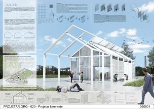 Premiados – Concurso de Ideias para Estudantes – #020 Pavilhão Projetar Itinerante - Primeiro Lugar - Prancha 01
