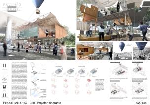 Premiados – Concurso de Ideias para Estudantes – #020 Pavilhão Projetar Itinerante - Segundo Lugar - Prancha 01