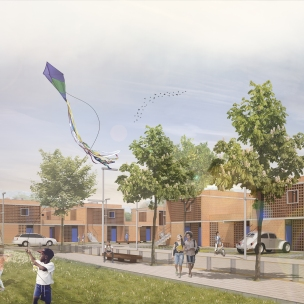 Premiados – Concurso Nacional – Unidades Habitacionais de Interesse Social DF - Grupo 1 - Segundo Lugar - Imagem 01
