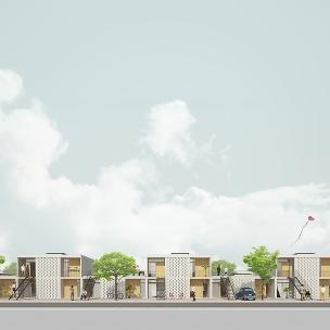 Premiados – Concurso Nacional – Unidades Habitacionais de Interesse Social DF - Grupo 3 - Segundo Lugar - Imagem 01