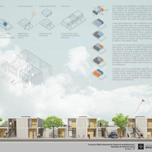 Premiados – Concurso Nacional – Unidades Habitacionais de Interesse Social DF - Grupo 3 - Segundo Lugar - Prancha 01