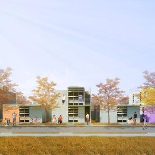 Premiados – Concurso Nacional – Unidades Habitacionais de Interesse Social DF - Grupo 2 - Segundo Lugar - Imagem 01