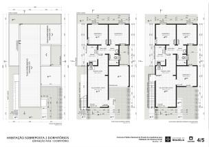 Premiados – Concurso Nacional – Unidades Habitacionais de Interesse Social DF - Grupo 2 - Primeiro Lugar - Prancha 04