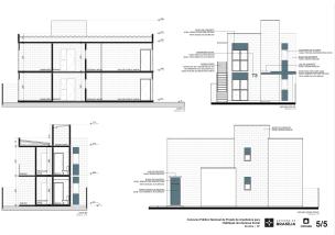 Premiados – Concurso Nacional – Unidades Habitacionais de Interesse Social DF - Grupo 2 - Primeiro Lugar - Prancha 05