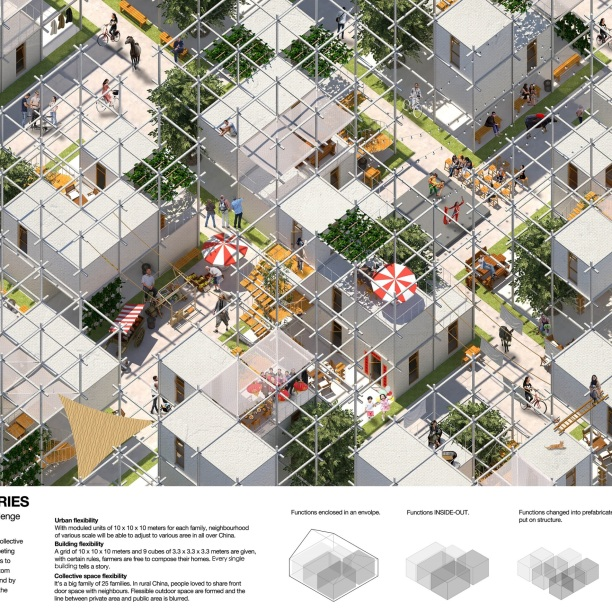 Premiados - Concurso Internacional - Modern Collective Living Challenge - Menção Honrosa - Prancha 01