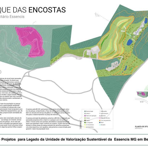 Premiados - Concurso de Estudantes - Parque Urbano em Aterro Sanitário UVS Betim - MG - Terceiro Lugar - Prancha 01