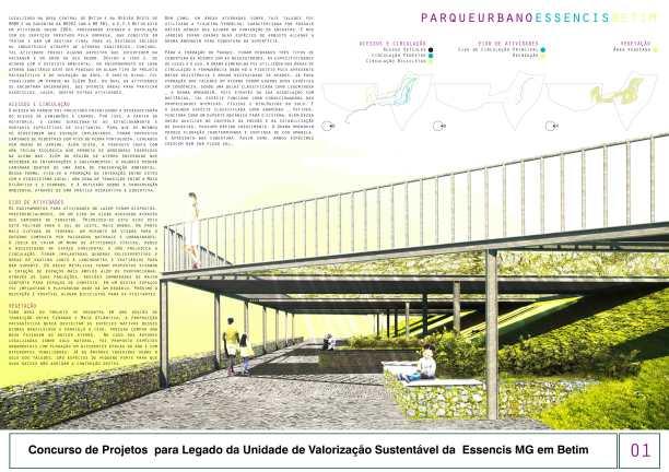Premiados - Concurso de Estudantes - Parque Urbano em Aterro Sanitário UVS Betim - MG - Primeiro Lugar - Prancha 01